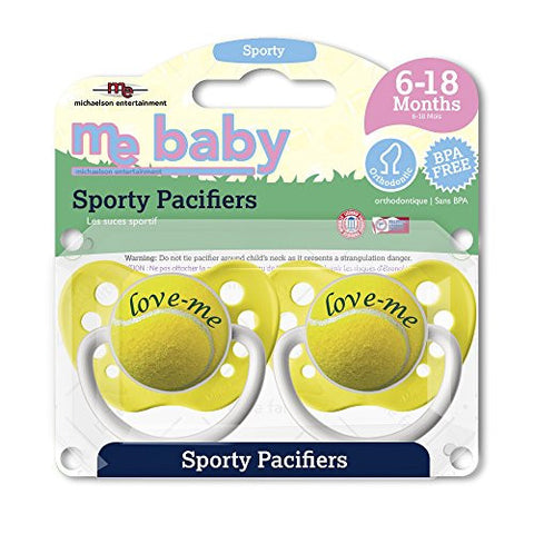 Michaelson Entertainment 2 Piece Pacifier, Tennis