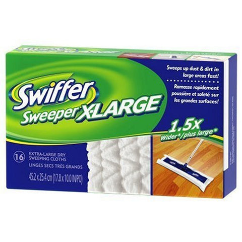 Swiffer Sweeper X-Large Disposable Sweeping Cloths, 16-Count Boxes