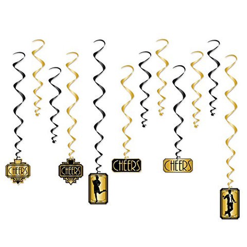 Beistle Great 20s Whirls | Premium Hanging Party Decorations