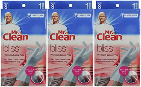 Mr. Clean Bliss Premium Latex-Free Gloves, Small, 3 pairs