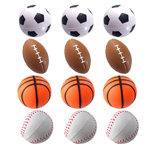 24 Counts Kids Toy Baseball Stress Ball Mini Foam Squeeze Sports Ball Toys for Kids Fun Party Favors Anxiety Relief