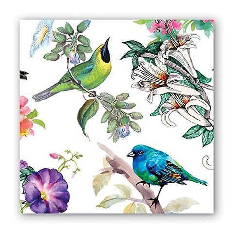 Michel Design Works NAP296 20-Count 3-Ply Paper Cocktail Napkins, Bird Song