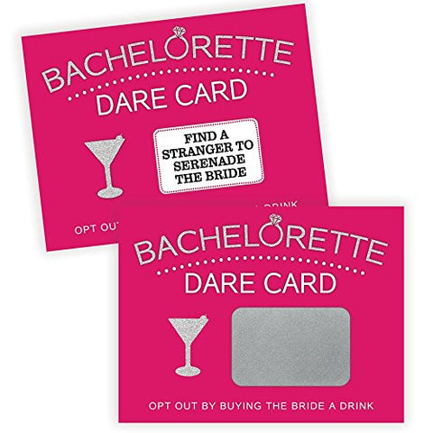 Bachelorette Dare Card Party Game, Girls Night Out, 20 Scratch Off Cards