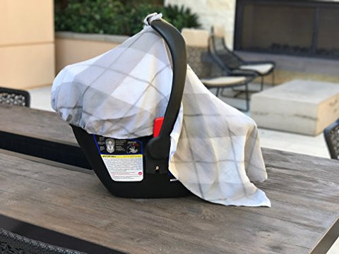 Baby Car Seat Canopy Cover - Lightweight & Breathable, Organic Cotton