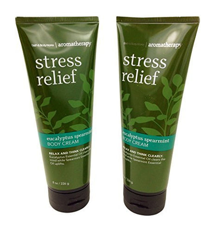 Bath & Body Works Aromatherapy Stress Relief Eucalyptus Spearmint Body Cream 8.0 oz, 226g