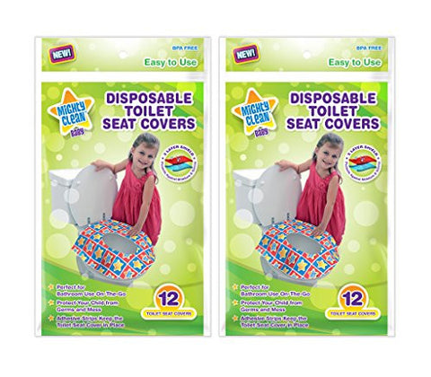 Mighty Clean Baby Disposable Toilet Seat Covers, 24 count (2 Packs of 12 Covers)