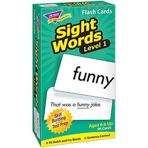 Sight Words–Level 1: Skill Drill Flash Cards