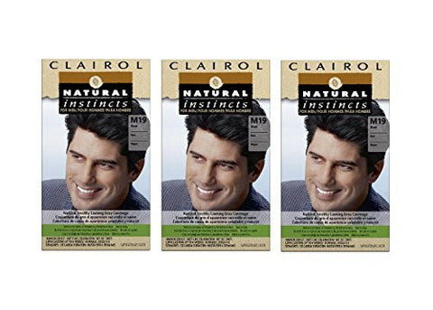 Natural Instincts For Men Haircolor M19 Black 1 Each