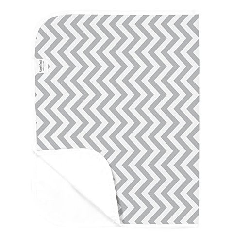 Kushies Deluxe Waterproof Changing Pad Terry, Gray Chevron