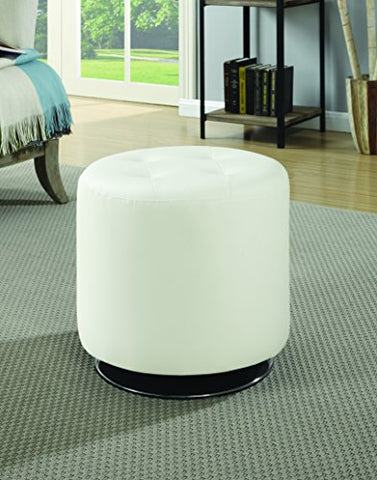 Coaster Home Furnishings 500554 Ottoman, White