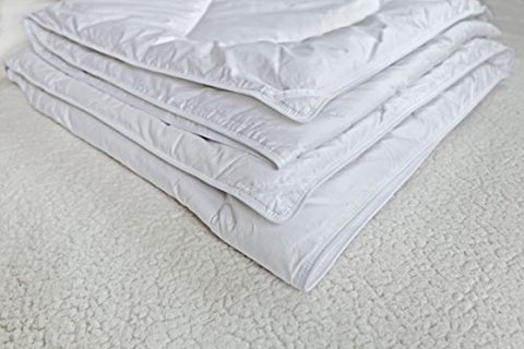 Down Alternative Duvet Comforter 100% Peruvian Alpaca Wool Fill - All-Season Hypoallergenic Thermal Control - All natural sustainable, Full/Queen