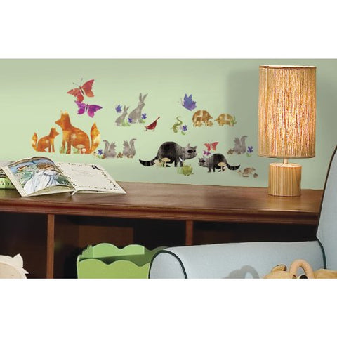 RoomMates RMK2643SCS Woodland Friends Peel and Stick Wall Decals