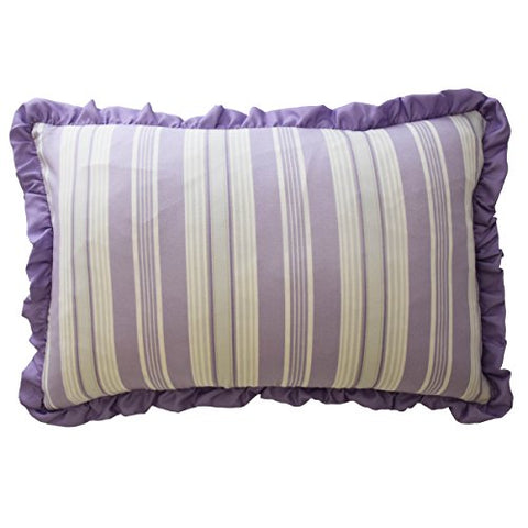 Waverly Kids 16436012X018PUR Ipanema 12-Inch by 18-inch Striped Decorative Accessory Pillow, Purple