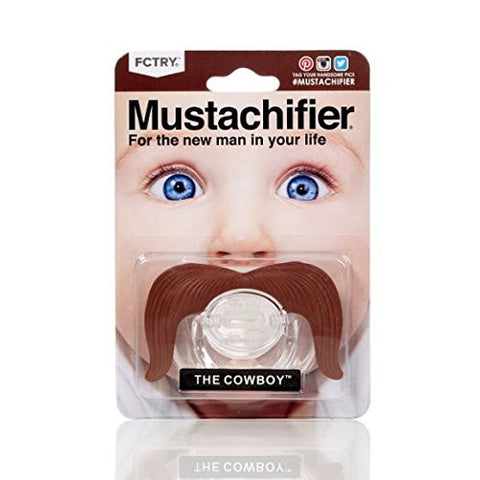 The Gentleman Mustache Pacifier - Cowboy