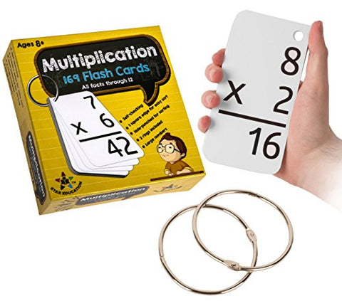 Star EducationTM Multiplication Flash Cards, 0-12 (All Facts-169 Cards) With 2 Rings