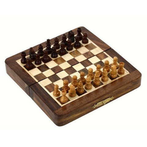 Magnetic Folding Chess Board Travel Game Set Dimesion 7 Inches by RoyaltyRoute