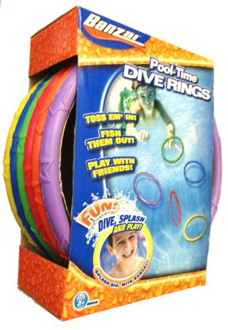 Spring & Summer Toys Banzai Pool Time Dive Rings