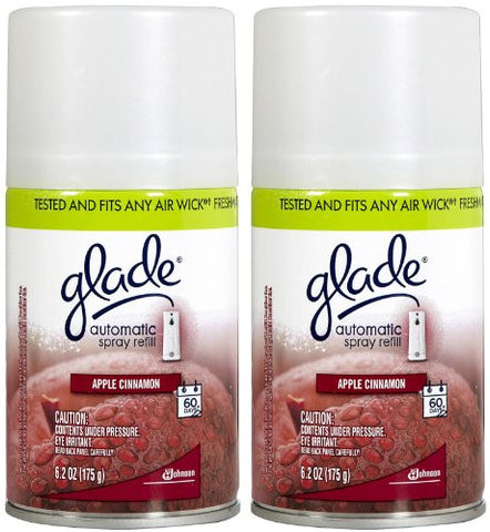 Glade Automatic Spray Refill - Apple Cinnamon - 6.2 oz - 2 pk