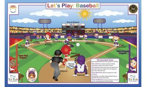 Tot Talk Let's Play: Baseball Placemat