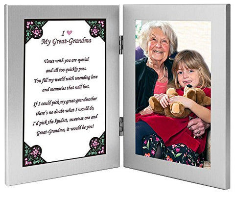 Great Grandmother Gift From Grandchild - Great Grandma Frame with Sweet Poem - Add Photo After Delivery