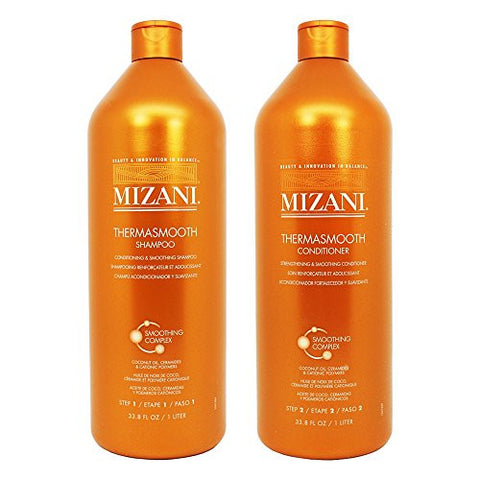 Mizani Thermasmooth Shampoo + Conditioner 33.8oz Duo Set