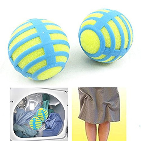 2 Anti Static Laundry Balls Tumble Dryer Cleaning Clothes Natural ReusableTV