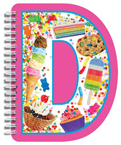 iscream Letter D Shaped Spiral-Bound Lined-Page 6.5 Initial Notebook