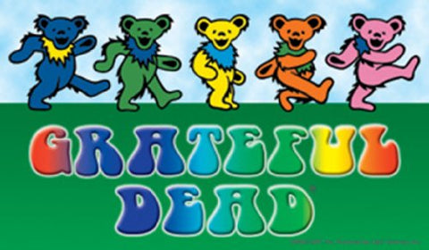 Licenses Products Grateful Dead Dancing Bears with Logo Sticker