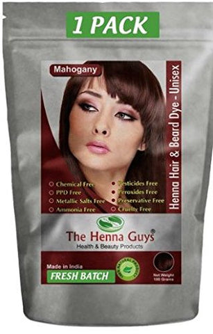 MAHOGANY Henna Hair & Beard Dye / Color - - The Henna Guys