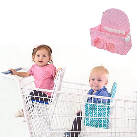 Buggy Bench Shopping Cart Seat in Posh Pink for Baby, Toddler, and Twins (Up To 40 Pounds)