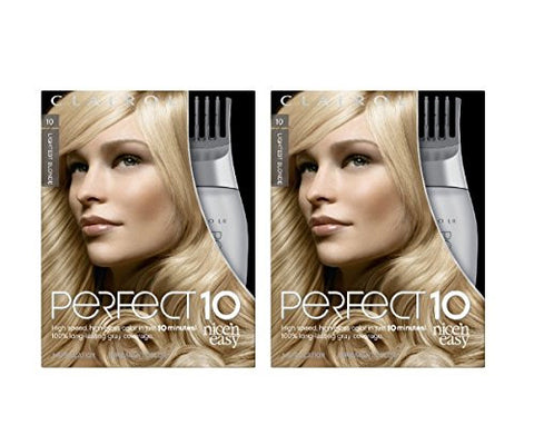 Clairol Perfect 10 By Nice 'N Easy Hair Color 010 Lightest Blonde 1 Kit