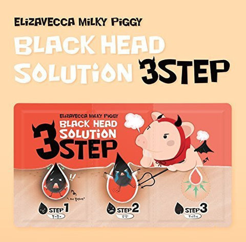 Elizavecca Milky Piggy Black Head 3 Step Solution Nose Pack (5pcs)