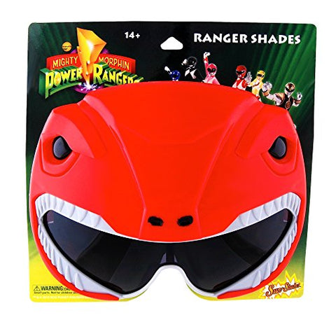 Sun-Staches H2W Officially Licensed Power Rangers Sunstaches Sunglasses, Red