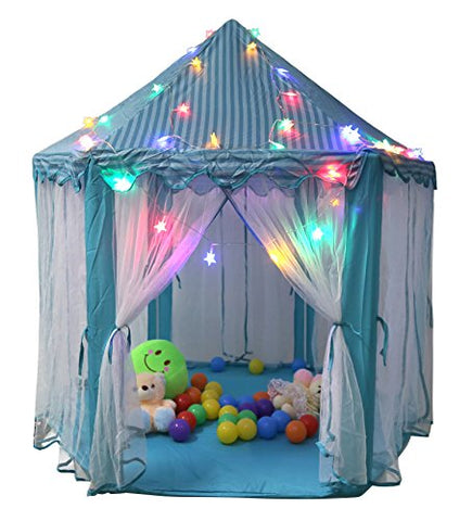 TIENO 55  x 53  Children Indoor Play Tent Princess Castle Playhouse for kids with Star Light