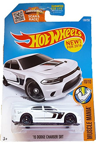 Hot Wheels, 2016 Muscle Mania, '15 Dodge Charger SRT [White] 130/250