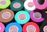 3 Athletic Tape Bulk Sports Stretch Power Wrap, Self Adherent Wrap Flex Tape, Self Adhering Stick Bandage, Self Grip Roll - 3 inches x 15' Feet - 12 Rolls - Assorted Colors