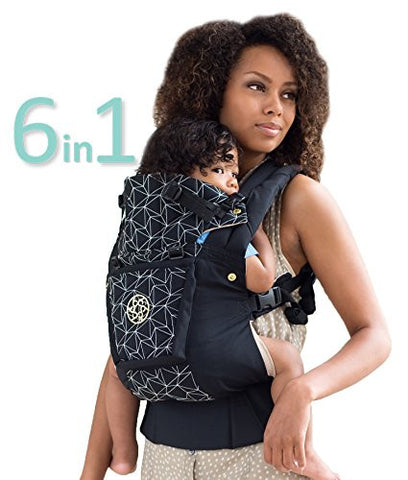 SIX-Position, 360° Ergonomic Baby & Child Carrier by LILLEbaby - The COMPLETE Embossed LUXE Diamond (Black)