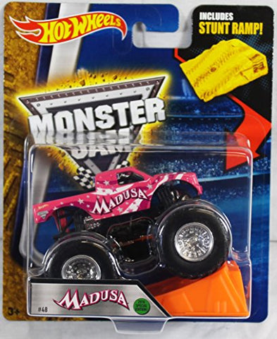 Hot Wheels Monster Jam Madusa with Stunt Ramp 1:64 Scale Truck