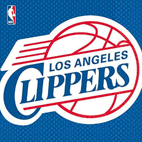 Sports and Tailgating NBA Party Los Angeles Clippers Luncheon Napkins Tableware, Paper, 6  x 6