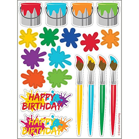 Art Party Sticker Sheets (4 ct)