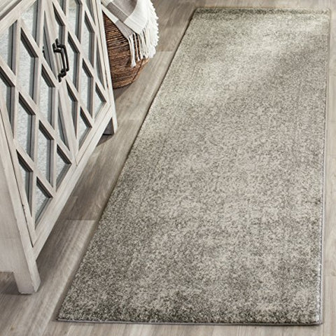 Safavieh Evoke Collection EVK256S Vintage Oriental Silver and Ivory Runner (2'2  x 7')