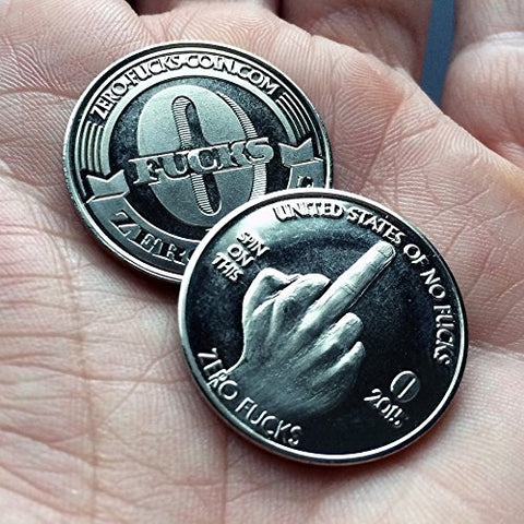 ZFG Inc. Zero F's Given Giftable Novelty Quarter Coins, Color Silver, The Middle Finger,