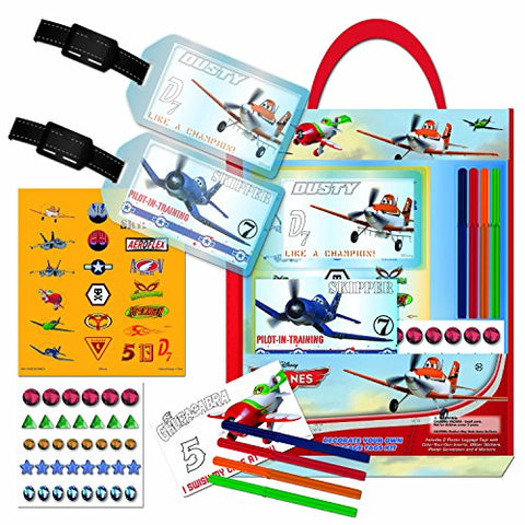 National Design Planes Decorate Your Own Luggage Tags Kit