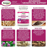 Advanced Menopause Support - Natural Menopause Relief for Hot Flashes, Night Sweats, Mood Swings & Vaginal Dryness - Black Cohosh, Soy Isoflavones & Herbal Extract Formula - Does Not Include Hormones
