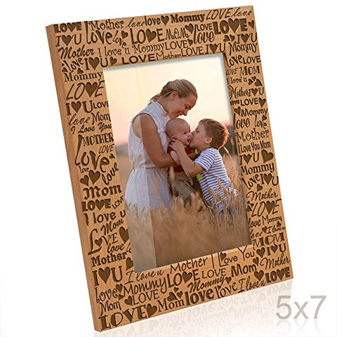 Kate Posh - I Love You Mom, Mother, Mommy Picture Frame (5x7-Vertical)