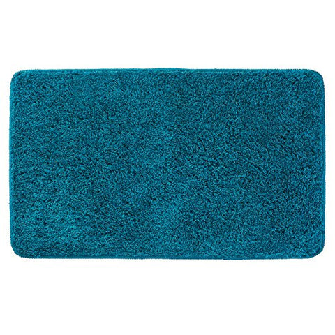 InterDesign Microfiber Bathroom Shower Accent Rug - deep Teal