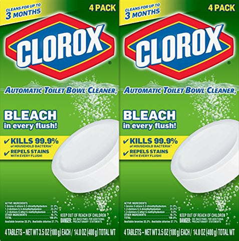 Clorox Automatic Toilet Bowl Cleaner, 3.5 Ounces, 8 Count (Packaging May Vary)
