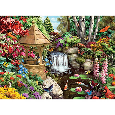 Bits and Pieces - 500 Piece Jigsaw Puzzle for Adults - Secret Garden - 500 pc Flowers, Birds, Animals Jigsaw by Artist Alan Giana