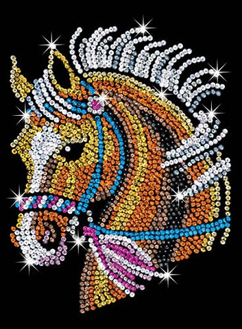 Sequin Art Blue, Horse, Sparkling Arts and Crafts Picture Kit