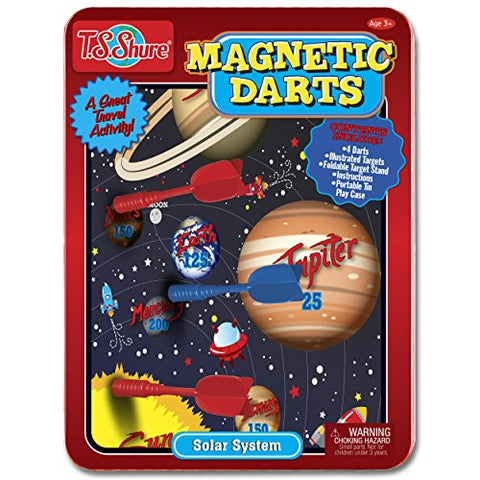 Solar System Magnetic Darts Game Tin